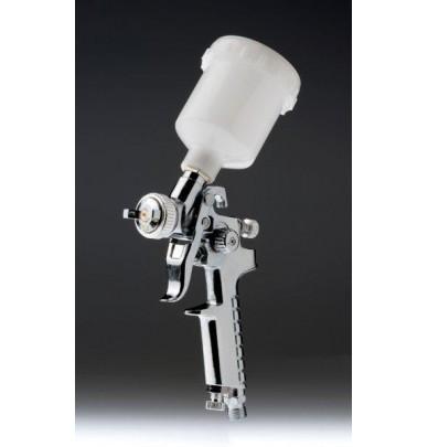 Mini pistola HVLP 0.8mm cromo