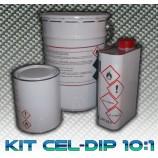 Tinta de base a envernizar bicomponente 2C especial para hidro dipping qualquer suporte Cel-Dip