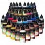 Série Metalizadas Peroladas - 35 tintas acrílicas-PU para aerógrafo