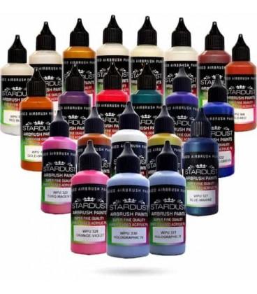 Série Camaleão – 20 tintas Stardust acrílicas-PU para aerógrafo
