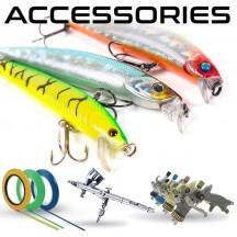 Acessórios e consumíveis para pintar engodos de pesca